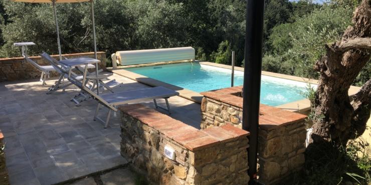 """""""Podere Mulino Vecchio"""" mit beheizbarem Pool; d.h. von Ostern bis November warmes Wasser. Einmalig in der Toskana!"""